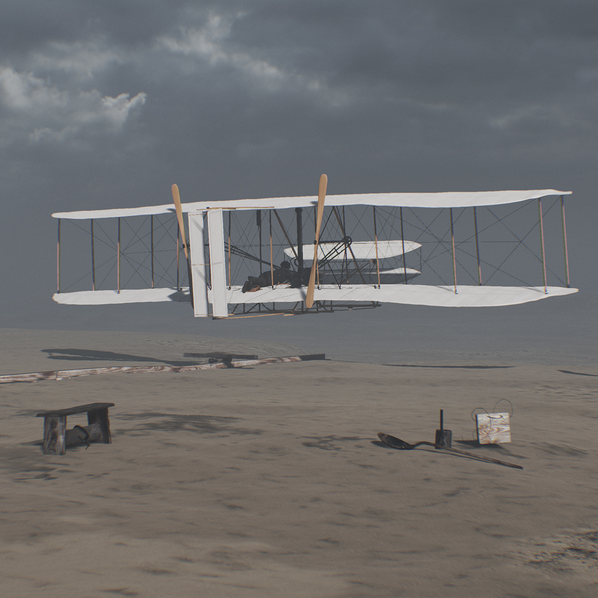 Wright Brothers Flight intended for cgo studios